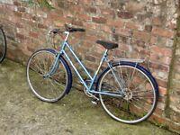Vintage Raleigh Estelle Blue Road Bicycle - Needs Service