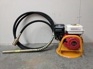 HOC - HONDA 5.5 OR 6.5 GAS CONCRETE VIBRATOR W/DIA 38MM x 6M FLEXIBLE VIBRATE POKER + 3 YEAR WARRANTY + FREE SHIPPING