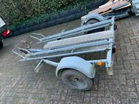 Motorbike trailer 2 bike motocross with ramp