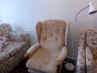 Upright Fireside Chair