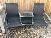 Duo garden seat and table set