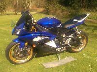 Yamaha YZF R6 600 599 cc 2008 low mileage plus extras