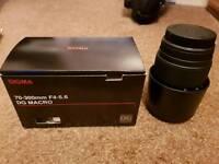 SIGMA70-300 mm f/4-5.6 DG Macro Telephoto Zoom Lens - forCanon