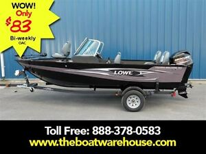 2016 lowe boats FM165 Pro WT Mercury 60HP Trailer Trolling Moto. Kingston Kingston Area image 1