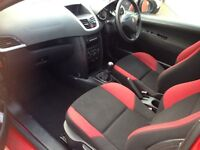 FRONT REAR SPORTS SEAT FROM PEUGEOT 207 HDI COMPLETE WITH AIRBAGS