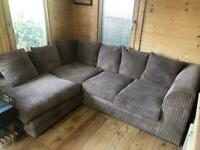 L shaped 4 seater corner sofa & matching 3 seater sofa