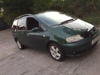 2004 Seat Alhambra 1.9 TDI PD Auto 8 month mot 7 seater minibus very good on diesel bargain at 900£