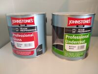 Gloss paint and undercoat 2.5l Johnstone's trade professional