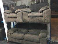 New/Ex Display Dfs Cord 3 Seater Sofa + 1 Seater Chair + 1 Seater Chair