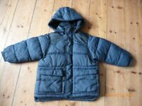 Zara - Boys navy school coat age 3-4 years
