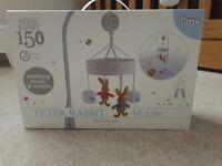 Brand new unused Peter Rabbit cot mobile