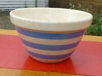 Vintage 1960s Striped Kitchen Bowl