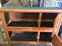 Double rabbit/guinea pig hutch