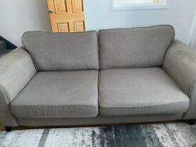 3 Piece suite and storage footstool