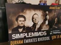 Simple Minds / Pretenders advertising poster