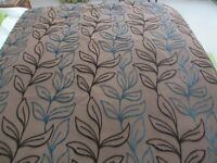 MASKREYS HEAVY LINED CURTAINS WITH MATCHING CUSHIONS