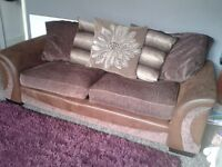 Like new Dfs Swivel cuddle chair and Sofa only 2 years old.