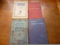 Four very rare vintage car books. Morris Oxford/Cowley, Wolseley Hornet, Commer & Bedford. £140