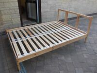 Ikea wooden bed frame good condition