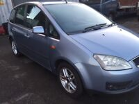 DIESEL FORD FOCUS CMAX 2005 5DR FULL YEAR MOT EXCELLENT CONDITION.
