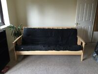 3 seater black futon , must be able to collect tomorrow