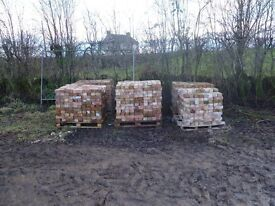 2 Pallets reclaimed red bricks. Good condition.