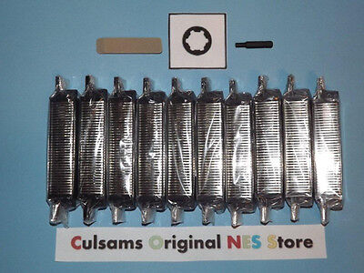 10 NEW NINTENDO NES 72 PIN CONNECTORS WITH 3.8 MM BIT & CONTACT CLEANING ERASER