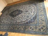 Persian Wool Rug - Blue - Large 350cm x 250cm