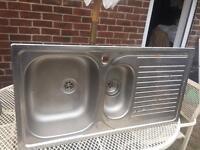 Metal kitchen sink & drainer FOR SALE!!