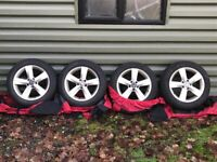 Winter Tyres & Wheels - VW Passat Genuine 17 inch alloys with Continental Winter Tyres 225/45/R17
