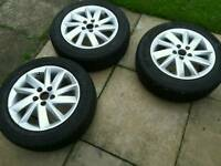 Genuine 2012 Seat Ibiza alloy wheels and tyres Set of 4
