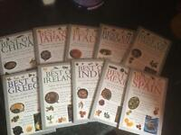 10 cookbooks from different countries Spain India etc