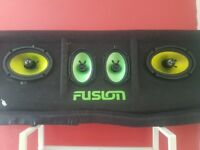 2 pairs of fusion car speakers