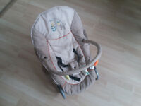 Hauck adjustable bouncing bouncer chair with toys - good condition