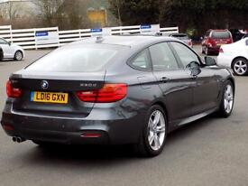 BMW 3 SERIES 3.0 330D M SPORT GRAN TURISMO 5dr AUTO (255) *Sat Nav & Leather* (grey) 2016