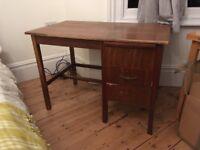 Vintage retro wooden desk