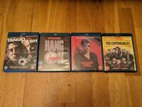 Sylvester Stallone Blu Rays set