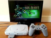 PlayStation PSOne (PS1) Console with Controller, leads & Memory Card