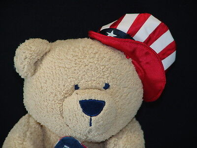 KOALA BABY USA UNCLE SAM HAT RED WHITE BLUE BORN IN THE USA PLUSH TEDDY BEAR