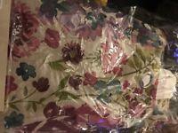 "Floral Curtains 90x90"""