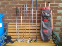 Ladies clubs. Ben Sayers/ lady sayers set of ladies golf clubs with bag.