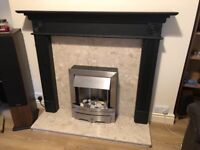 Electric Fireplace with marble surround