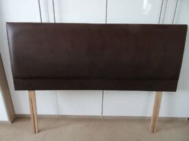 KING SIZE 5ft Brown SUEDE effect Headboard £20