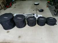 Drums, hardware and Mapex cases