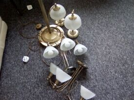2 lamps 2ceiling light 1 uplighter