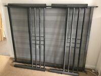 Double bed frame - black metal