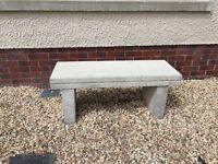 Cream stone bench