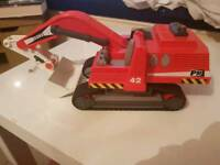 Digger builder car crane toy, swivel and scoop