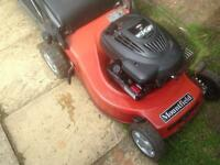 Petrol mower self propelled mower
