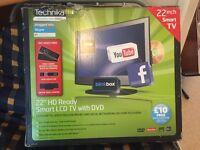 22 inch HD ready Technika TV with FREE aerial